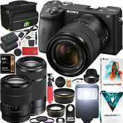 Sony A6600 Mirrorless Camera 4k Aps-c Ilce6600mb 2 Lens 18-135mm 55-210mm Bundle