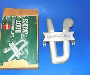 Vintage Carnation-albers Feed Co. Advertising Cast Aluminum Boot Jack W/box