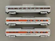 American Flyer 6-48942 And 6-48943 2 Silver Flash Vista Dome Car Set S Scale