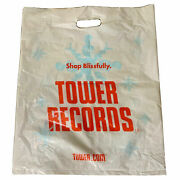 1 Tower Shopping Bag Collectible Records Vintage 18andrdquo X 15andrdquo 45s White Bag Rare