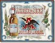16 X 12 1/2 Anheuser-busch Bottled Beers Metal Sign New