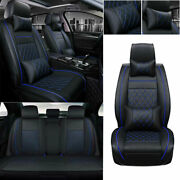 Deluxe 5-sits Auto Seat Cover Pu Leather Protector Universal Accessories Cushion
