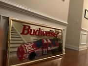 Budweiser 11 Car King Of Beers Mirror Sign 51 By 28 Inches