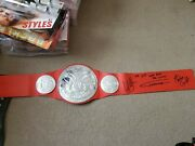 Wwe Toy Tag Belt Signed By Machine Gun Karl Anderson, Gallows, And Curt Hawkins.