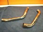Harley-davidson Front And Rear Softail Exhaust Head Pipes 00-06 Good Used