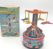 Japanese Antique Tin Toys By Yone In 1960 Spring Machine Amusement Park Japan Y