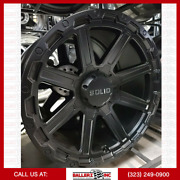 20x10 Solid Offroad Wheel And 33 Tire Package 6x135/139.7 Matte Blk