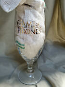 Ommegang Brewery Game Of Thrones Gold Logo 7 1/4 Beer Glass Rare Promo
