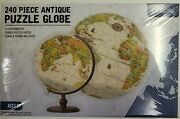 3d Spherical Jigsaw Puzzle Antique Globe New Factory-sealed Includes Stand Nice
