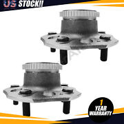 Pair Rear Wheel Hub Bearing For Ford Honda Prelude Non-abs 2.2l 4 Cyl 97-01