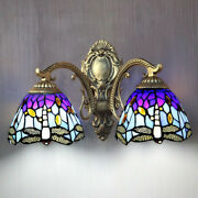 Style Wall Sconce Retro Stained Glass Wall Lighting Fixture Baroque
