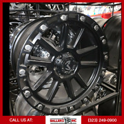 20x9 M205 Mkw Offroad Wheel And Tire Package Matte Black 6x5.5