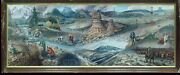Wyoming The Land Of The People By Mike Kopriva Mural Wy Capitol Long Postcard