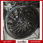 6x135/139.7 H704 Hardrock Offroad Wheel And 33 Tire Package Gloss Black 22x10