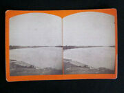 1890and039s On The Susquehanna River From S. S. And L. Railroad Sunbury Pa Stereoscopic