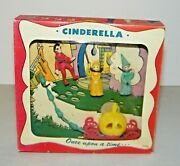 Vintage 1951 Emenee Very Rare New In Box Once Upon A Time Cinderella Playset New