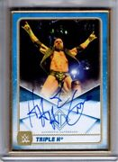 2020 Topps Wwe Transcendent Auto Triple H Gold Framed Autograph 3/5 Hhh Blue Sp