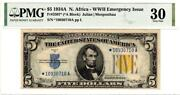 Fr. 2307 5 1934a North Africa Silver Certificate. Pmg Very Fine 30- Gorgeous