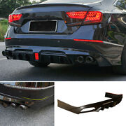 Rear Bumper Diffuser Bodykit With Lights Unfinished For Honda Accord 2018-2020