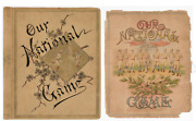 1887 Our National Game Baseball Album With One Page Historical American Usa