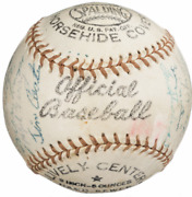 1957 New York Yankees And Brooklyn Dodgers Multi-signed Baseball Autographed Nice