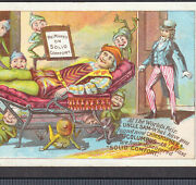 Uncle Sam Marks Library Chair 1893 Expo Brownies Columbus Victorian Trade Card