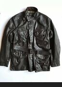 Rrl 1940s Inspired Motorcycle Cowhide Leather Jacket Small Nwt