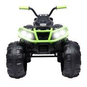 12v Electric Ride Outdoor Car Atv Kids Toy With Led Lights Music Horn Cool Gift