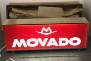Movado Watches Advertising Store Display Lighted Sign Rare 17.5andrdquo X 6.5andrdquo Rare Vtg