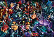 """Tenyo Disney """"villains Bring It On """" 1000 Piece Jigsaw Puzzle, From Japan"""