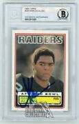 Marcus Allen 1983 Topps Autographed Rookie Card 294 - Bas