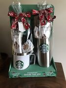 Starbucks Holiday Gift Set Stainless Steel 1 Mug And 1 Tumbler With Lid Nwt