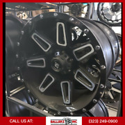 20x10 Lrg Offroad Wheel And Tire Package Black Milled 6x5.5