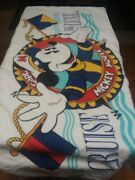 Capt Mickey Mouse Vintage Beach Towel Cruise Deluxe Disney Vintage 27 X 50