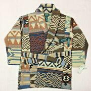 Hand Knit Cardigan Jacket Men 1990s Vintage Rare Size M With Tag