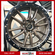 20x10 6x5.5 Fuel Offroad D681 Rebel 6 Wheel And Tire Package Bronze