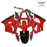 Ms Injection Fairing Kit Red Black Fit For Kawasaki 2000-2002 Zx6r Zx-6r W034