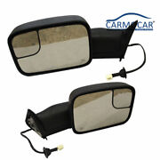 Power Heated Telescoping Tow Mirrors Fit 98-01 Dodge Ram 1500 / 98-02 2500 3500