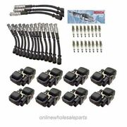 8 Ignition Coil B3208 And 16 Cable Wires And 16 Spark Plug Set Sw21 For Mercedes