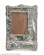 Art Nouveau Silver Photo Frame With Hiawatha And Motto Easel Back Chester Sterling