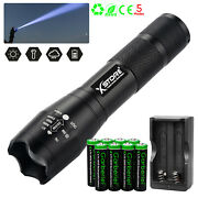 Tactical Police 5modes T6 Led Flashlight Zoomable Aluminum Torch+battery+charger