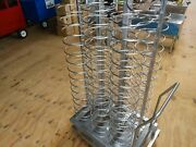 Food Tray Cart 92 Slots W/removable Handle