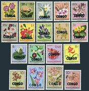 Congo Dr 323-340,mnh/mlh A Stamp.michel 11-28. Flowers Of Belgian Congo,1960.