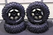 Grizzly 350i Irs 26 Bighorn Rwl Atv Tire And 14 Viper Blk Wheel Kit Irs1ca