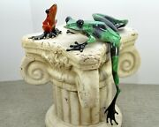 Large Social Climber Bronze Frog By The Frogman Tim Cotterill Sold Out