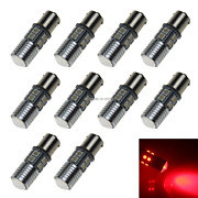 10x Red Auto 1156 Rear Lamp Replacement Light 11 10 X 5050 Smd + 1 Cree Led Z206