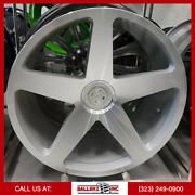 22x10.5 Blaque Diamond Wheel And Tire Package Silver/machined 5 Lug Fitments