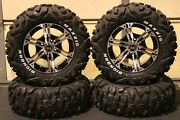 Yamaha Grizzly 700 26 Bighorn Rwl Atv Tire And 14 Viper M/b Wheel Kit Irs1ca