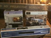 Andnbspprodigy Innovations Lr-22 Home Theater Projector Andnbsp4k Set 4 Pieces Screen 72 In