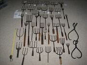 Massive Lot Of Vintage Metal 41 Ice Fishing Spears No Tongs
